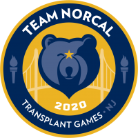 team norcal transplant games of america logo