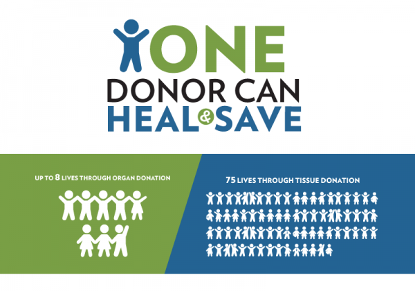 one donor can save and heal