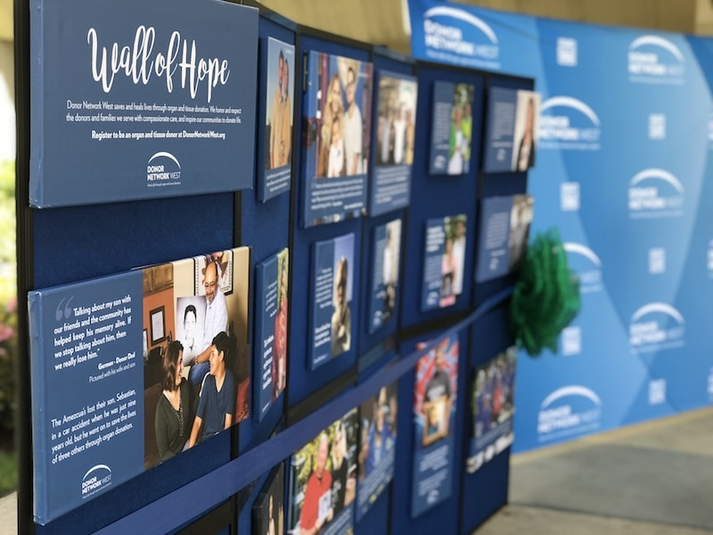 Community Regional Medical Center Displays Wall of Hope in Celebration of Donate Life Month